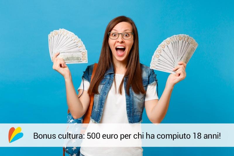Bonus cultura 500 Euro: novità per i nati nel 2001