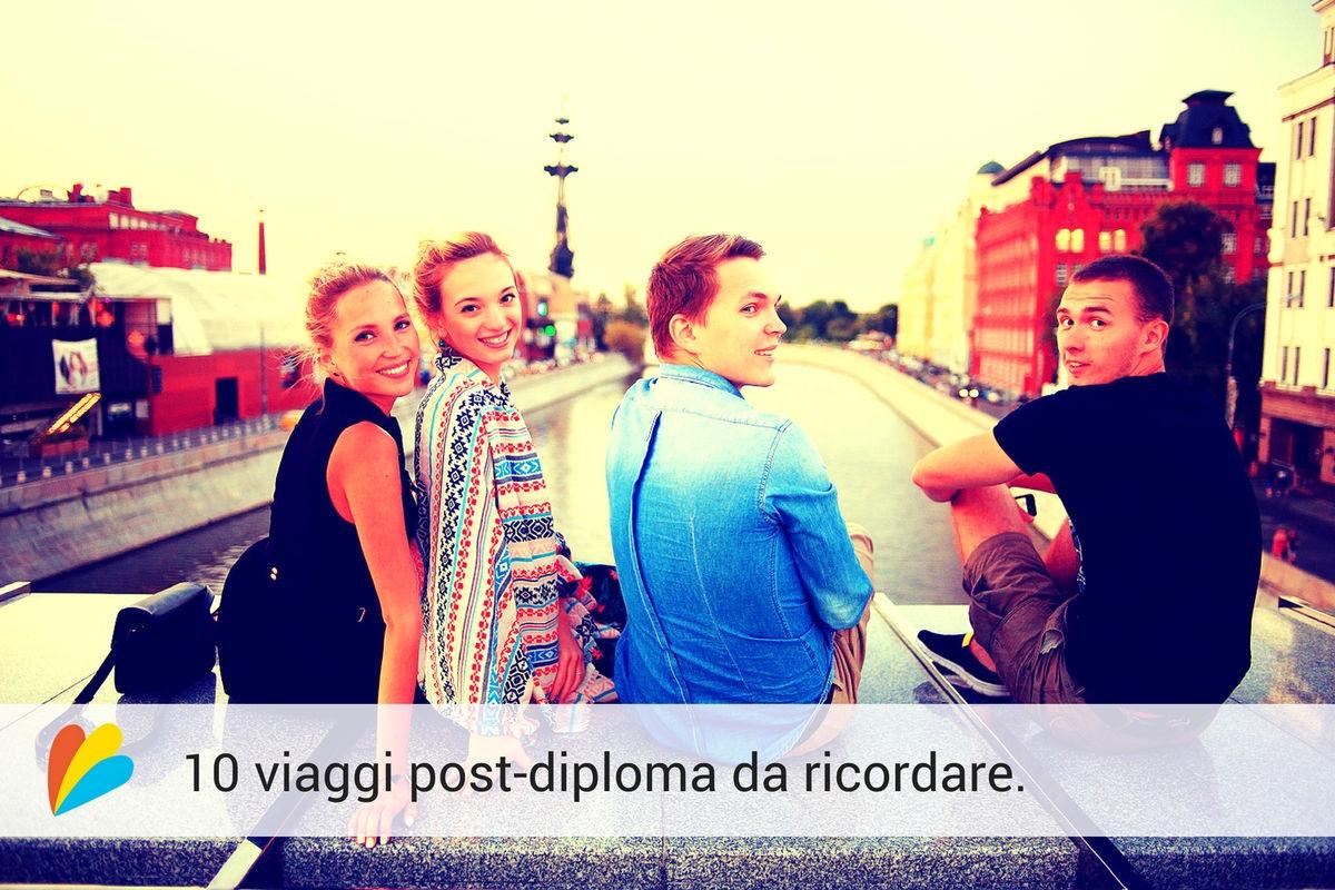 viaggio studenti tramonto